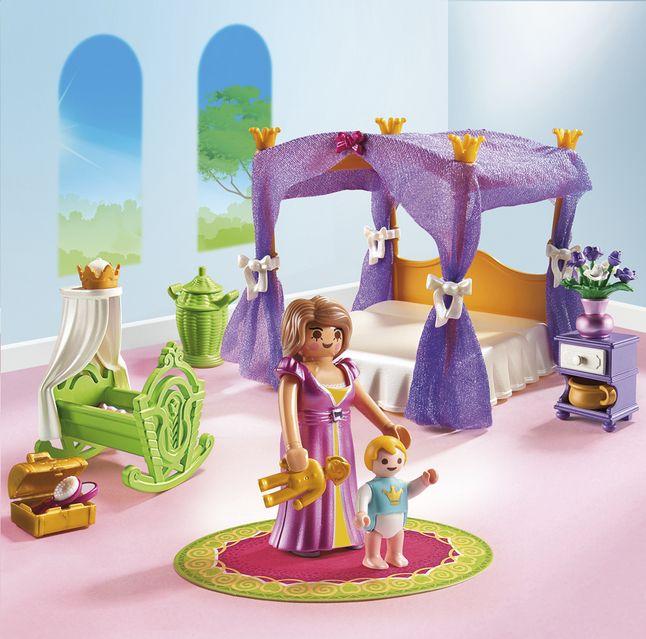 Afbeelding van Playmobil Princess 6851 Koninklijke slaapkamer met hemelbed from DreamLand