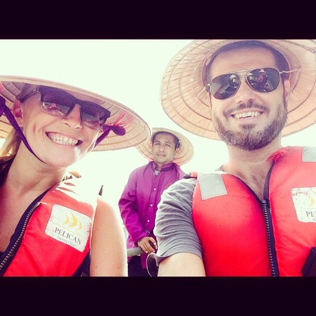 Fun in Halong Bay My hubby and I #travels #dreams #selfie #halongbay #Vietnam #photography