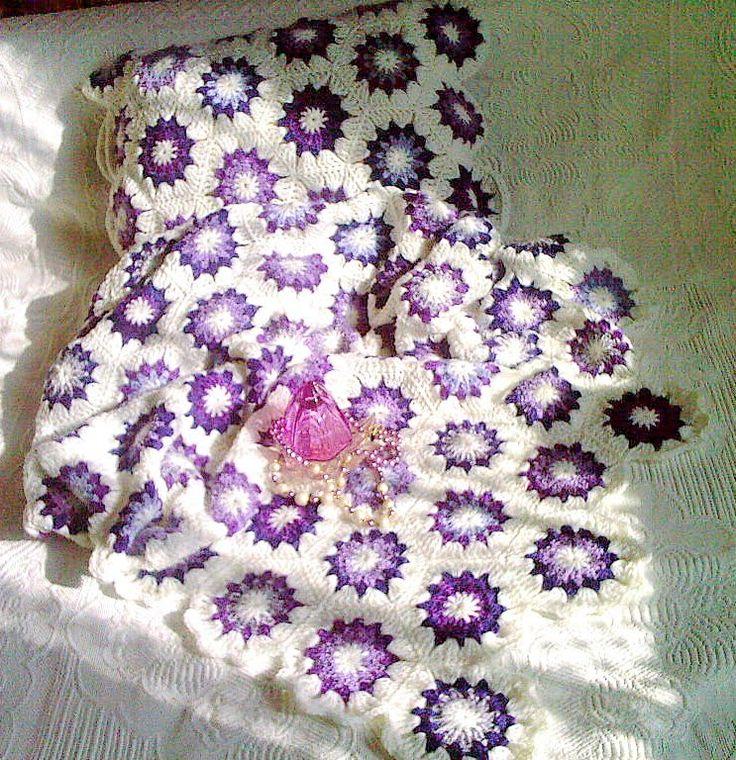 poduszka i narzuta - fiolety:)
