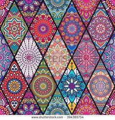 modelo-inconsútil-i-del-círculo-de-las-mandalas-coloridas ...