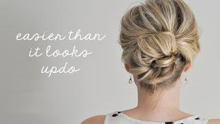 Easier Than It Looks Updo, via YouTube. I pretty much love everything