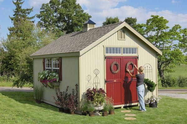Williamsburg Colonial Wooden Outdoor Garden Shed Kit 12 X 12