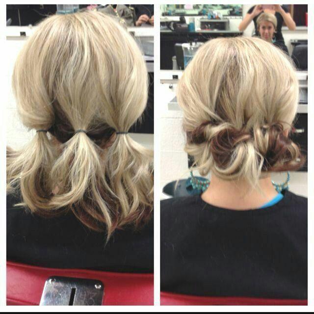 Pleasant 1000 Ideas About Shoulder Length Updo On Pinterest Shoulder Short Hairstyles Gunalazisus