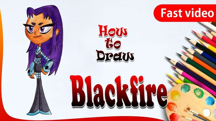 How to Draw Blackfire from Teen Titans Go! | Blackfire Drawing | Drawing...
