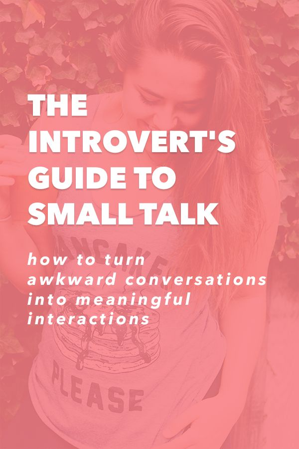 For pretty much ever, I dreaded small talk. It felt shallow and tedious and I felt awkward as hell. But this year, I've learned that it doesn't have to be that way. You can still have a great conversation even if it's with a near stranger. The Introvert's Guide to Small Talk - How to Turn Awkward Conversations into Meaningful Interactions http://init4thelongrun.com/2016/10/06/introverts-guide-to-small-talk/