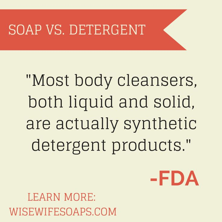 Do you know the difference between soap and detergent? You could be using detergent on your skin and not even know it!