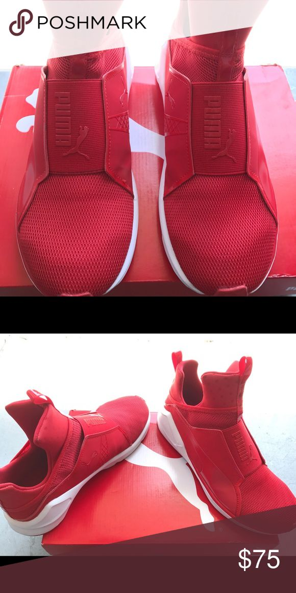 WOMEN RED PUMA FIERCE Worn once // 9/10 CONDITION (just want them gone) Puma Shoes Sneakers