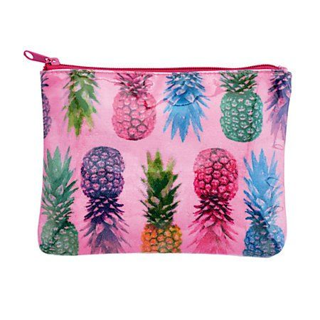 Durable Tropical Pineapple Zippered Pencil Pouch