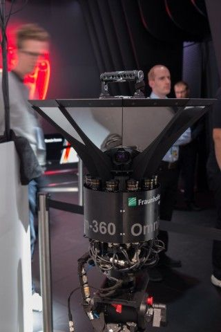 Sie nimmt 360-Grad-Videos auf, wie hier auf der IAA 2015. (Foto: Werner…