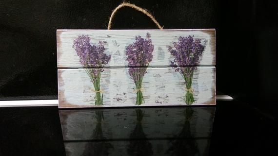 Lavender On Wood Purple Wall Art French Country Decor Country