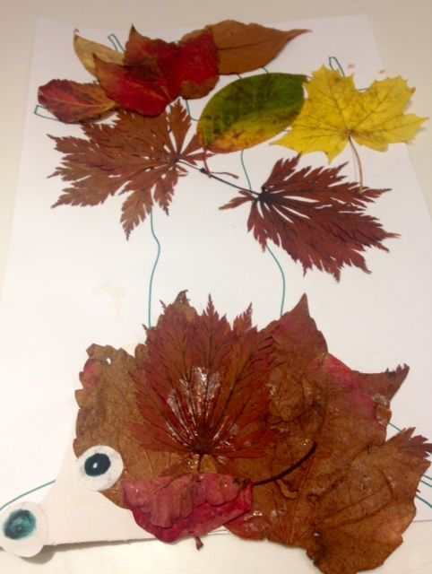 Edie created this hedgehog lying under a tree. The hedgehog seems very cosy! http://wildlifewatch.org.uk/nature-art-competition