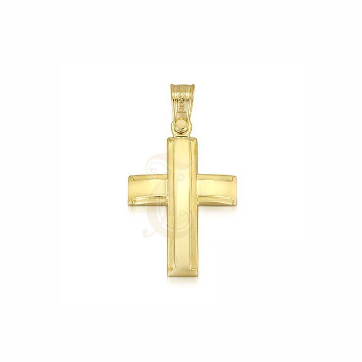 Ένας ιδιαίτερος βαπτιστικός σταυρός ΤΡΙΑΝΤΟΣ για αγοράκι από χρυσό Κ14 | Σταυροί βάπτισης ΤΣΑΛΔΑΡΗΣ στο Χαλάνδρι #βαπτιστικός #σταυρός #βάπτισης #Τριάντος #αγόρι