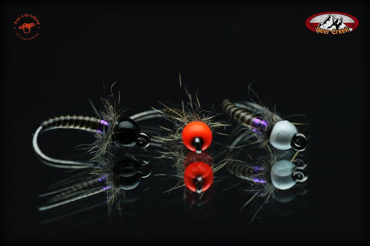 Grayling candies covered by DC UV Diamond Fine tied on Hends 599BL #14 By Live 4 Fly Fishing