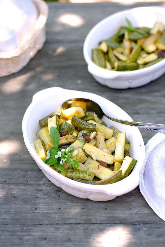 Un dejeuner de soleil: Courgettes à l'aigre-doux comme en Sicile