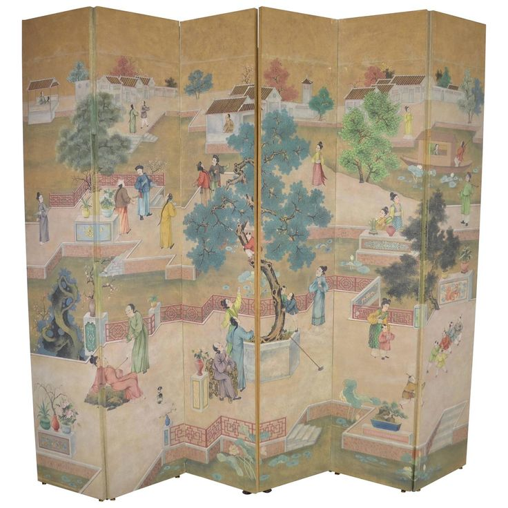 Six Panel Gracie Wallpaper Screen. 682 best Folding Screens   Room dividers images on Pinterest
