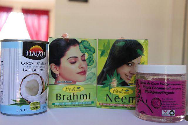 Poudres indiennes - neem, brahmi - pour les cheveux crépus Ayurvedic powders for natural hair