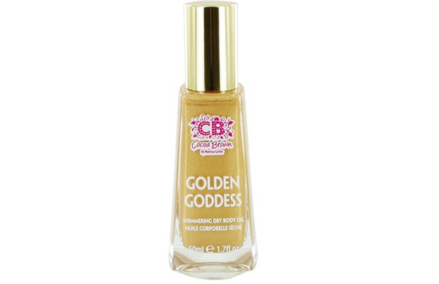Cocoa Brown Golden Goddess Shimmer Body Oil