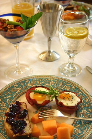 Breakfast | A delicious spread at the Tryon Farm Guest House located in Michigan City, IN.: Breakfast Inn, Guest House, Delicious Breakfast, Breakfast Cooking, Breakfast At