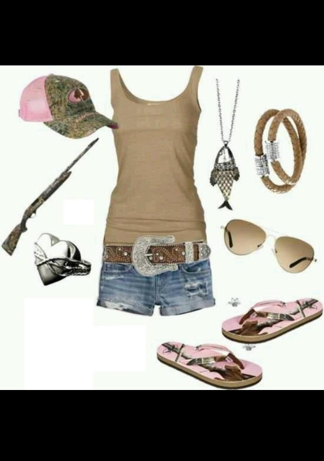 Perfect redneck outfit :P boots Instead of flip flops