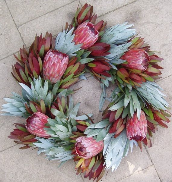 Fresh Protea Flower Wreath