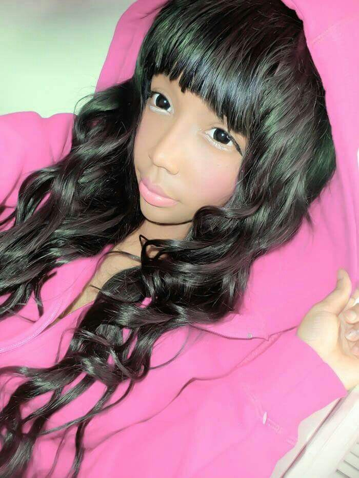 Vivi Ming Dark Skin Ulzzang  Kawaii Black Girls  Black -8574