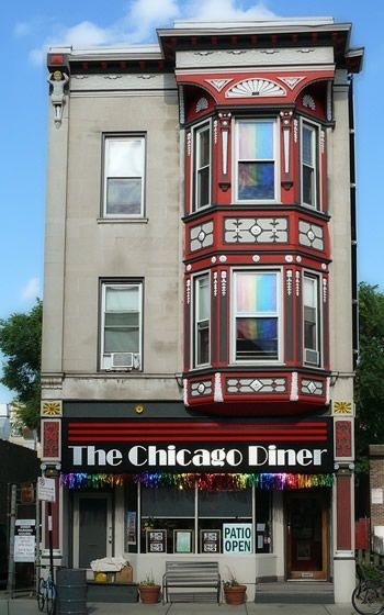The Chicago Diner, vegetarian in Lakeview (Chicago Pin of the Day, 10/4/2016).