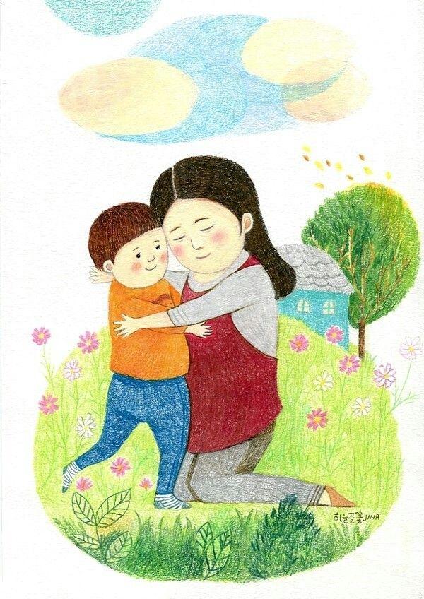 선생님 사랑해요  선생님 감사합니다  #하늘풀꽃jina #그라폴리오 #일러스트 #illustration
