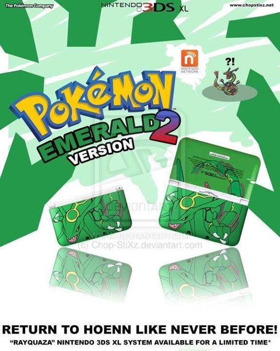 CONCEPT NON-LEGIT Pokémon Emerald remake special edition 3DS Rayquaza