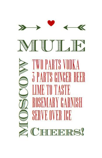 Moscow Mule Kit and free printable