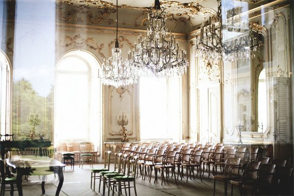 the gilded ceilings & chandeliers of hungary