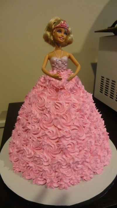 Barbie doll cake By lfussell on CakeCentral.com
