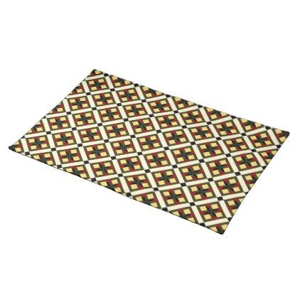 Barcelona cement tile checker pattern placemat - pattern sample design template diy cyo customize
