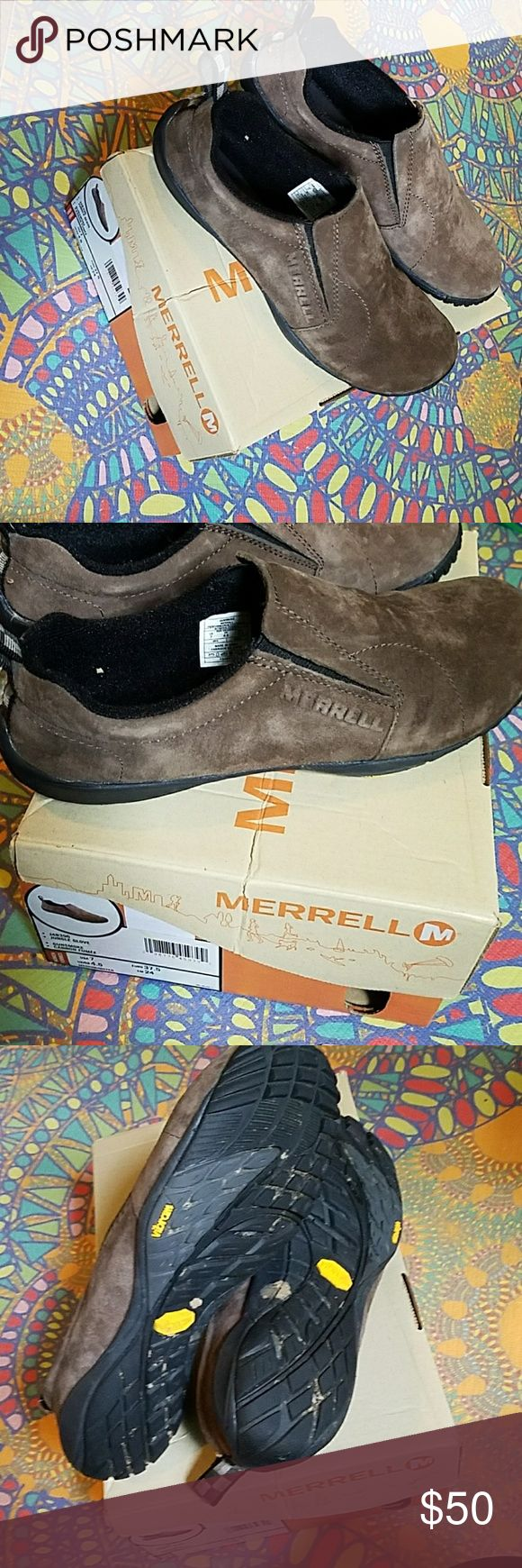 Merrell Jungle Glove Very lightly worn Brown barefoot trainers. Worn a handful of times so the soles look amazing!   FEEL FREE TO MAKE AN OFFER! Merrell Shoes