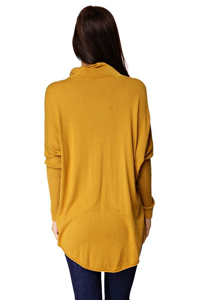 Solo Női kámzsa nyakú felső - 35% akció, outlet ((egy méret) mustár) | brands.hu 2015.11.08