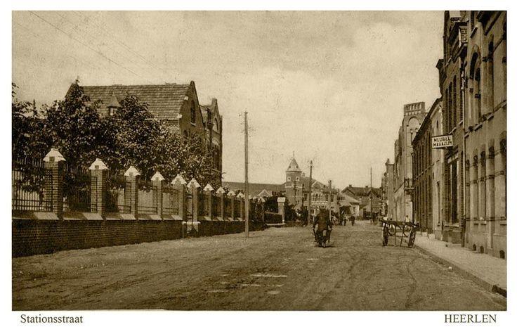 Stationsstraat. rond 1920. Heerlen.