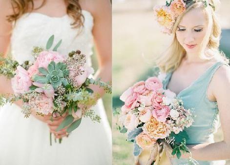 Pastel kleuren bruiloft (leuk idee!)
