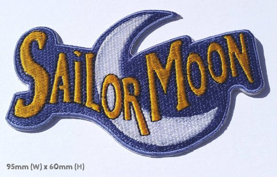 Sailor Moon Patch Embroidered Iron on Badge Costume by PatchEire