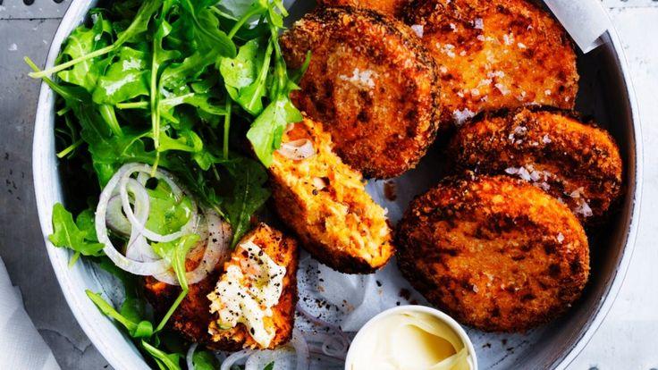Salmon and sweet potato croquettes