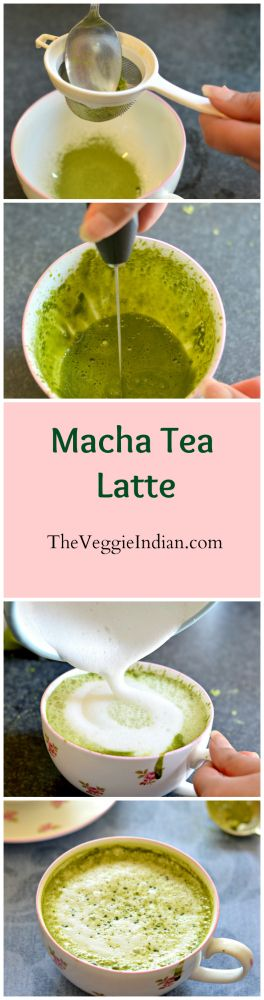 Vanilla and cardamoms piked Macha Tea Latte - Mama of superfoods!!