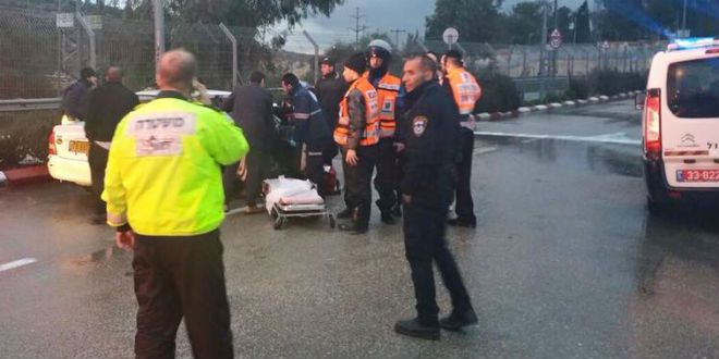 An image from the scene of a deadly attack in Beit Horon, Israel,  in January. US Students were asked to justify such violence during a college debate competition last weekend