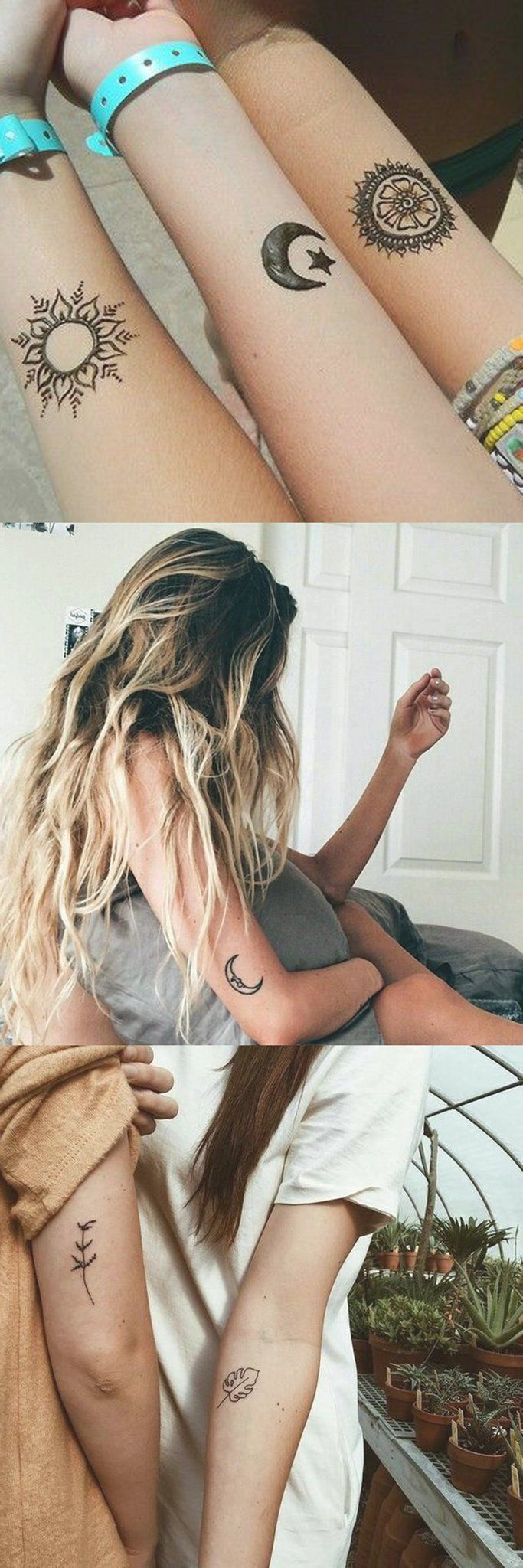 Triba Bohol Tattoo Ideas for Women – Small Mandala Sun and Moon Wrist Tatt – Lea…