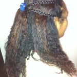 Pulled Back Hairstyle With Braid Detail Easy Hairstyle http://www.blackhairinformation.com/styling/pulled-back-hairstyle-with-braid-detail-easy-hairstyle/