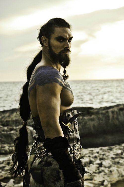 bohemea:  Jason Momoa as Khal Drogo in Game of Thrones, season 1 Drogo is the Scarecrow of the Game of Thrones because I think I'll miss him most of all. Fierce warrior man!