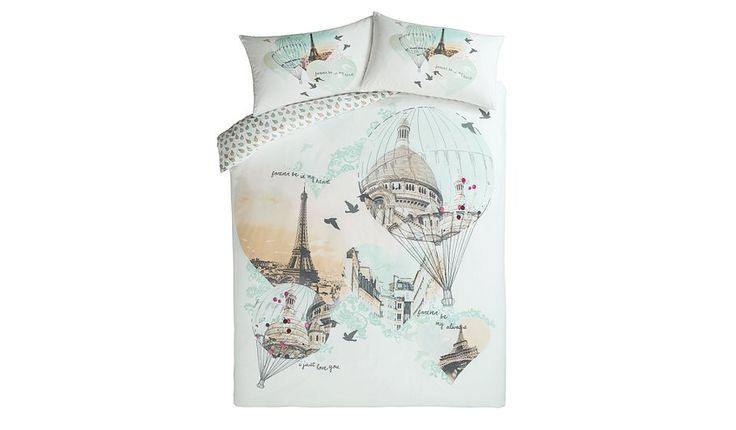 George Home Dreamy Paris Balloons Duvet Set, read reviews and buy online at George at ASDA. Shop from our latest range in Home & Garden. Add a touch of roman...