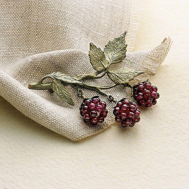 Buy Raspberry Garnet Brooch