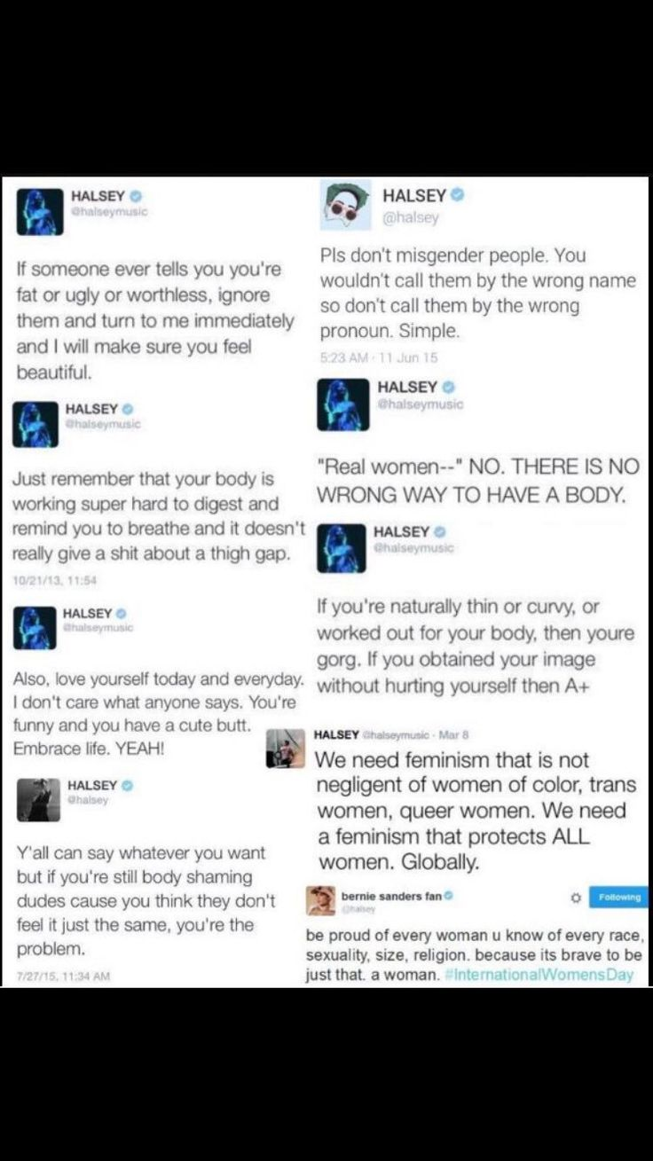 I agree with most of these things. Except the feminism. We don't NEED feminism. Some women THINK the world NEEDS feminism, but we don't. It's NOT about women's rights, it's about making women more important than men. And that's NOT equality, no matter how you slice it. That's Egalitarianism you're thinking of