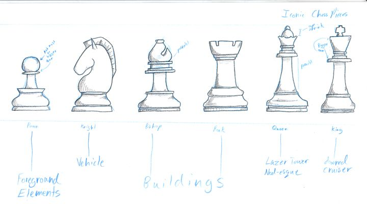 Chess Pieces Drawings King And Queen Chess Pieces
