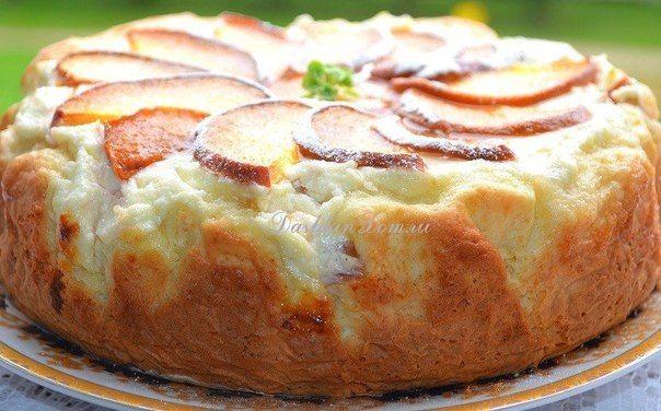 Пирог с творожно - персиковой начинкой » Кулинарные рецепты