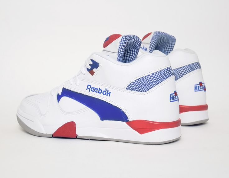 #Reebok Pump Court Victory Blue Red #sneakers