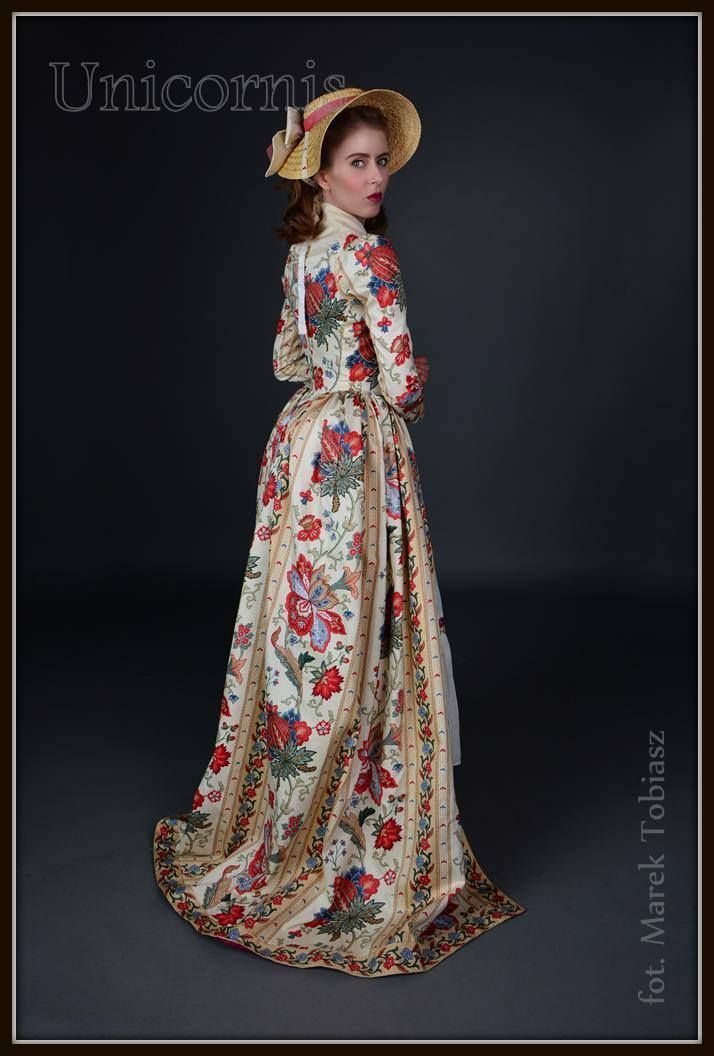 Robe à l'anglaise in chintz, 1780s by Unicornis
